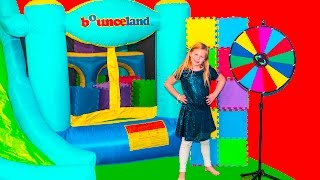 ASSISTANT Wheel of Color Surprise Inflateable Bounce House wit...