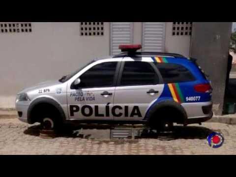 Ladrões roubaram os pneus de viatura em Surubim-PE