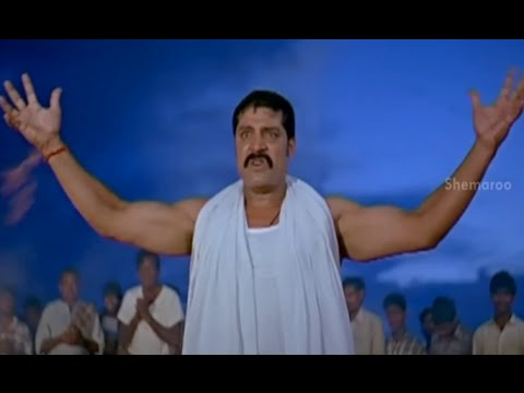 Badradri Full Movie Scenes - Srihari promises to save people from the diseases - Nikitha, Raja