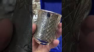 Серебряная кружка «Ромбик мл»