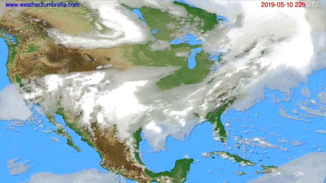 Cloud forecast USA & Canada // modelrun: 00h UTC 2019-05-08
