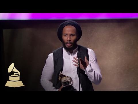 Ziggy Marley Wins for Best Reggae Album | Acceptance Speech