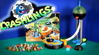Join me as I unbox Crashlings Toys Aliens, Dinos, Sea Life, Monsters, Insects with the Catapult City Playset Meteor Mutants From Outer Space.  This video features Crashlings and their company Wicked Cool Toys.  The Crashlings are placed in surprised balls similar to Kinder Surprise Eggs.  Sit back, relax and have fun!Music By Kevin Macleod (Happy Bee)
