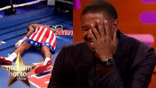 Michael B. Jordan Took A REAL PUNCH From Tony Bellew in Creed! | The Graham Norton Show