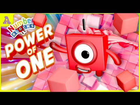 Super Numberblock 1! in the Power of ONE! Vs 10 Walls of Numberblocks 100