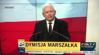 Oświadczenie Prezesa w sprawie Kuchcińskiego.