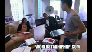 Jay Z Shows Rocawear Shoe on Oprah