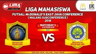 Video UB VS UM LIMA Futsal : McDONALD'S EAST JAVA CONFERENCE (MALANG SUBCONFERENCE) 2018 MP3, 3GP, MP4, WEBM, AVI, FLV Oktober 2018
