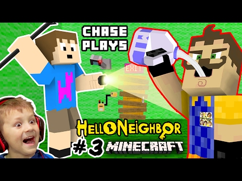 HE LOVES MILK!? HELLO NEIGHBOR MOD 4 MINECRAFT! Chase plays Alpha 3 House Showcase FGTEEV Randomness (видео)