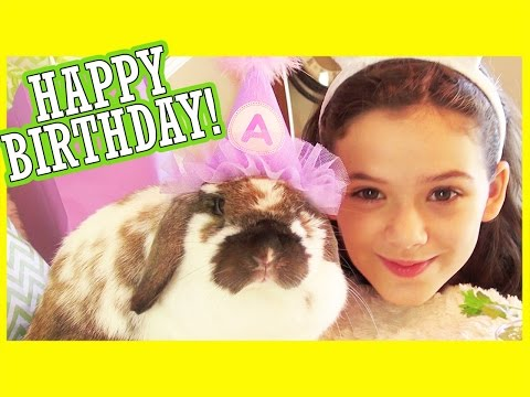 angel - Last Week's Vlog: http://bit.ly/CrushVlog Another awesome family vlog! This week ... Emma's bunny, Angel, turns 1 and we have a little bunny birthday party for her! We also get a package in...