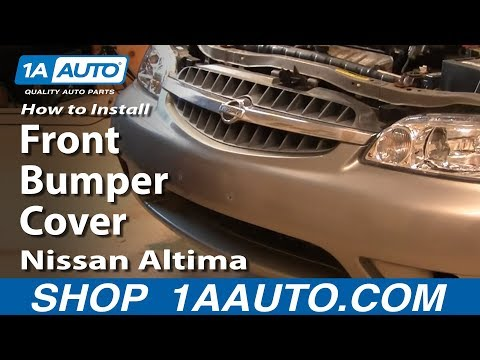 How To Install Replace Remove Front Bumper Cover Nissan Altima 00-01 1AAuto.com