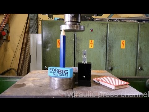 Hydraulic Press vs Deck of Cards
