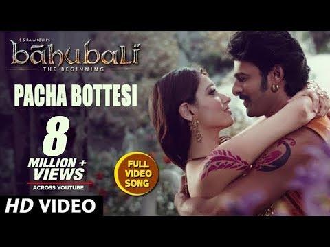 Baahubali Video Song - Pacha Bottesi - Prabhas, Tamannaah
