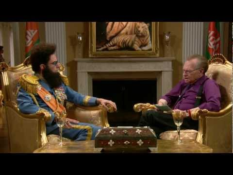 THE DICTATOR - Larry King Interview