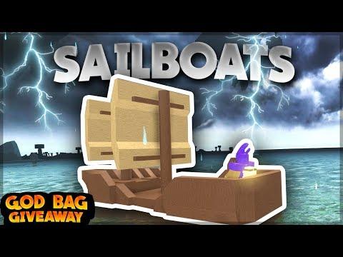 *NEW* SAILBOATS, REMOVED GOD BAG CRAFTING? (God Bag Giveaway)  Roblox: Booga Booga