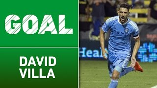GOAL: David Villa's curling effort seals the win for NYCFC by Major League Soccer