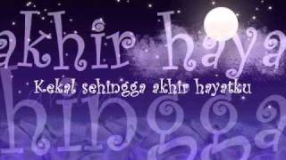 Video Ku Tetap Kan Menunggu-Hady Mirza with Lyrics on the Screen MP3, 3GP, MP4, WEBM, AVI, FLV Juli 2018