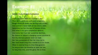 Video Examples of Sonnet Poems MP3, 3GP, MP4, WEBM, AVI, FLV Oktober 2017