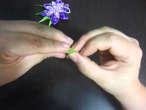 Kanzashi Flower, Ribbon Rose,Tutorial, DIY