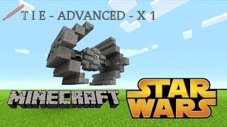Minecraft: STAR WARS TIE Advanced X1 (Easy Tutorial) STEP BY STEP)