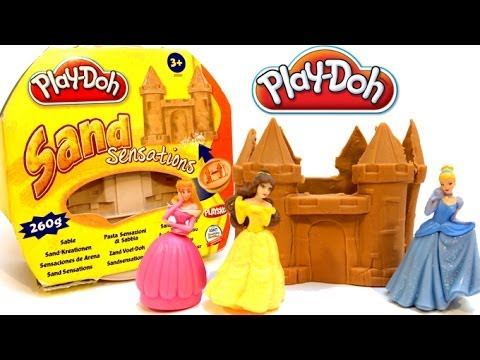 Princess - I built a castle with Play Doh Sand Sensations for my Disney Princess. Then the prince appeared and dance with Cinderella the whole night. Hope you like my p...
