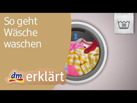 dm erklärt: Haushalt für Einsteiger - Wäsche waschen