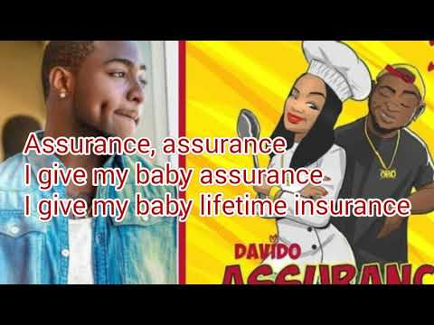 Davido - Assurance (FULL LYRICS VIDEO).