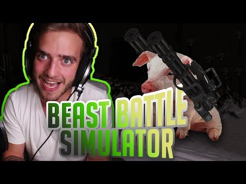 Prasata S Minigunem?! (Beast Battle Simulator)