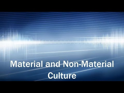 Culture: Material and Nonmaterial