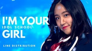 IDOL SCHOOL 아이돌학교 - I'M YOUR GIRL || Line Distribution
