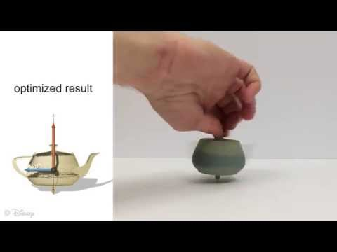 Disney Can Turn Any 3D-Printed Object Into A Perfectly Spinning Top