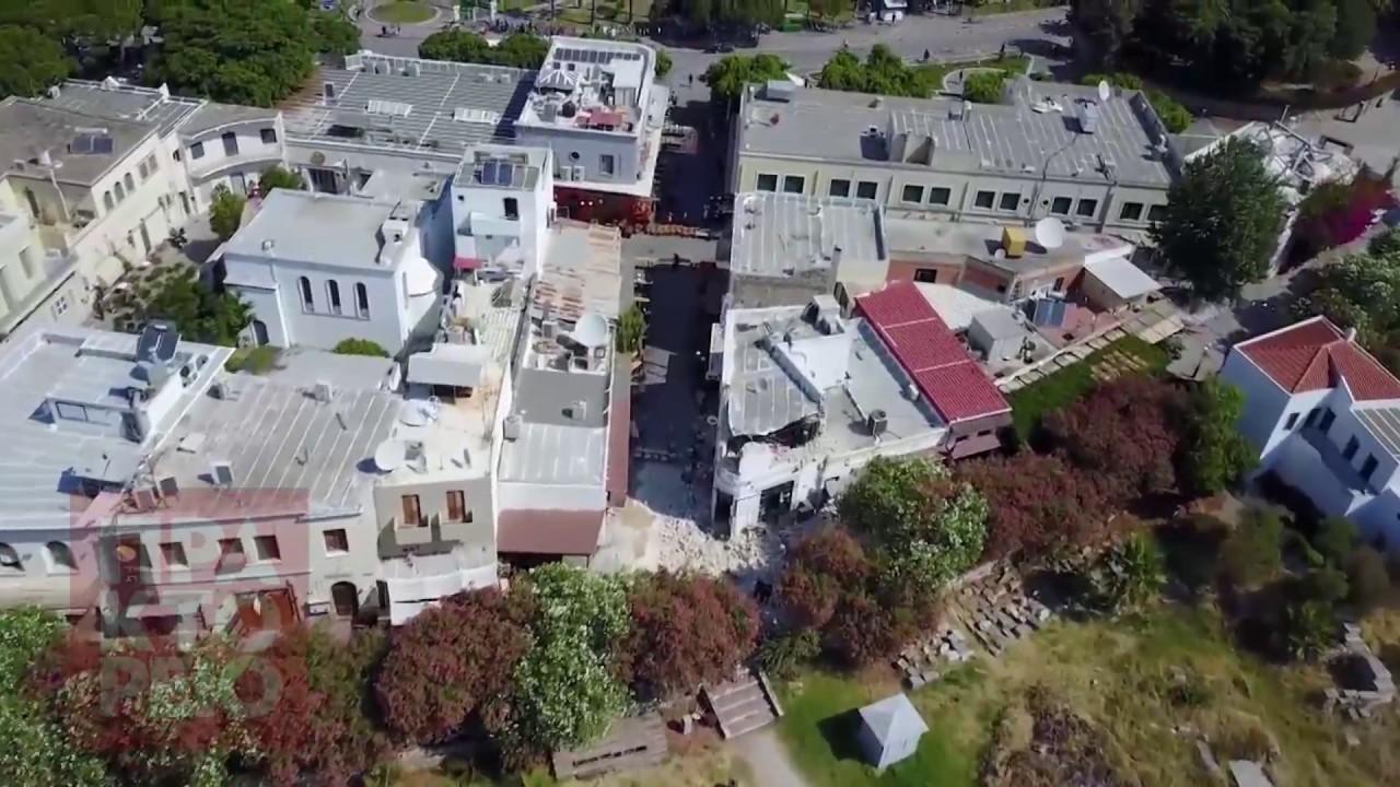 Εικόνες μετά το σεισμό στην Κω απο Drone