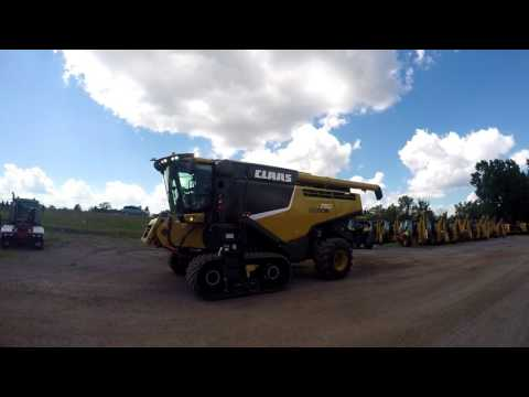 CLAAS OF AMERICA COMBINÉS LEXION 750 equipment video qr1bpKsNqEc