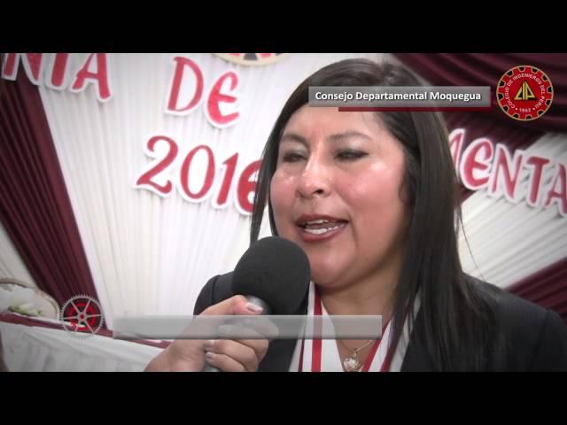 CIP-CD Moquegua -I ceremonia de Colegiación  2016