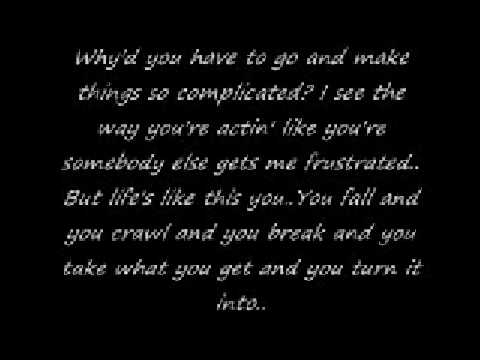 Avril Lavinge-Complicated with lyrics