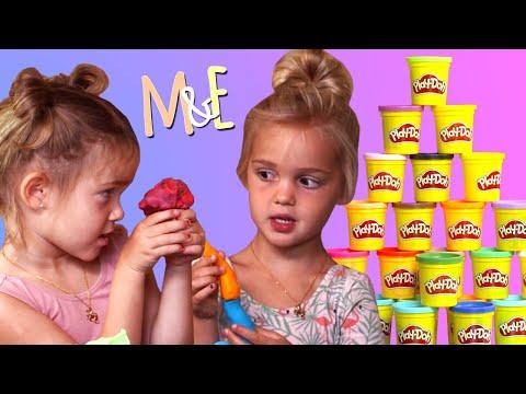 Play doh - PLAY-DOH CHALLENGE!  MILA & EMMA