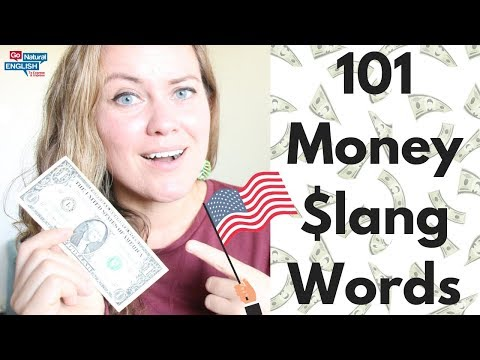 HOW TO SPEAK IN ENGLISH WITH SLANG VOCABULARY WORDS FOR MONEY 🤑