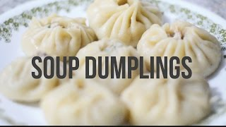 We attempted to make soup dumplings for the first time. This was the result.