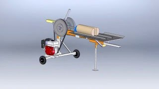 Дровокол 3D-модель Log splitter 3D model