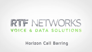 RTF Horizon - Call Barring