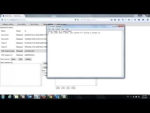 Setup teams (Matrix-Box, Online enterprise knowledge management system)