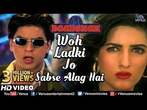 Video Woh Ladki Jo -HD VIDEO | Shahrukh Khan & Twinkle Khanna | Baadshah |90's Bollywood Romantic Song download in MP3, 3GP, MP4, WEBM, AVI, FLV January 2017