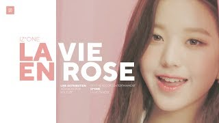 Video IZ*ONE - La Vie en Rose Line Distribution (Color Coded) | 아이즈원 - 라비앙로즈 MP3, 3GP, MP4, WEBM, AVI, FLV Juni 2019