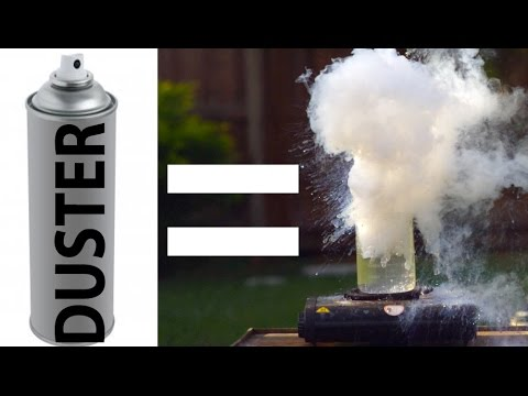 Computer Duster + Water = EXPLOSION!?