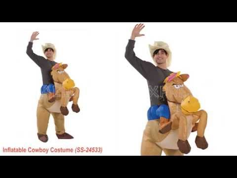 Cowboy Riding on Horse Inflatable Adult Costume