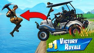 Download Video TROLLING Enemies With A GOLF KART In Fortnite Battle Royale! MP3 3GP MP4