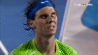Even the great Rafael Nadal can make mistakes on the court sometimes...