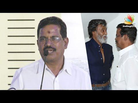 Kabali-is-the-mixture-of-Kamals-Nayagan-and-Thalapathi--Rajini-told-S-Thanu-Success-Meet-Speech