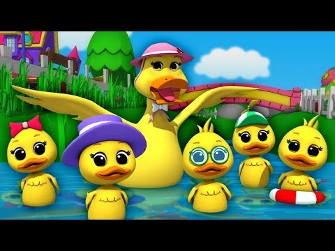 Lima bebek kecil | sajak anak-anak | Nursery Songs | Five Little Ducks