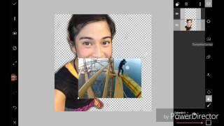 TUTORIAL cara edit Foto di App Picsart seakan2 foto d puncak menara gedung.